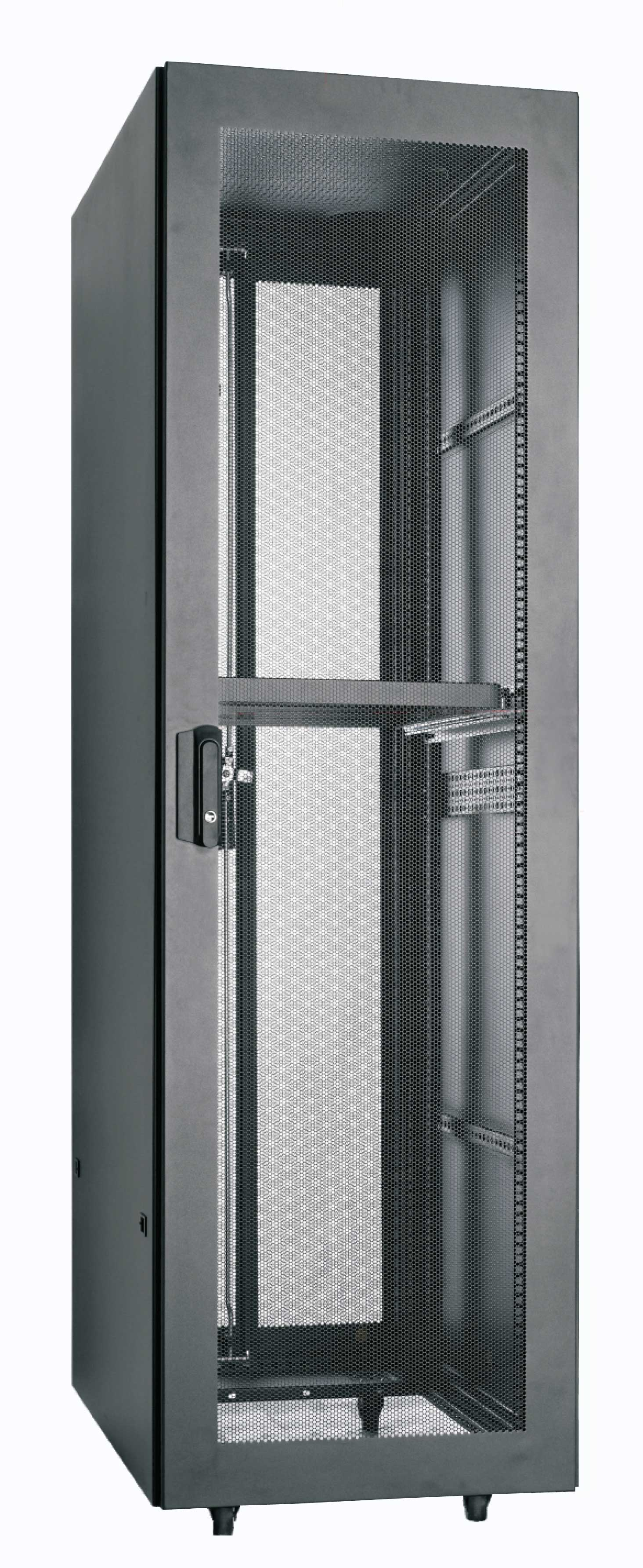 it rack perforated with door server cabinet products glass